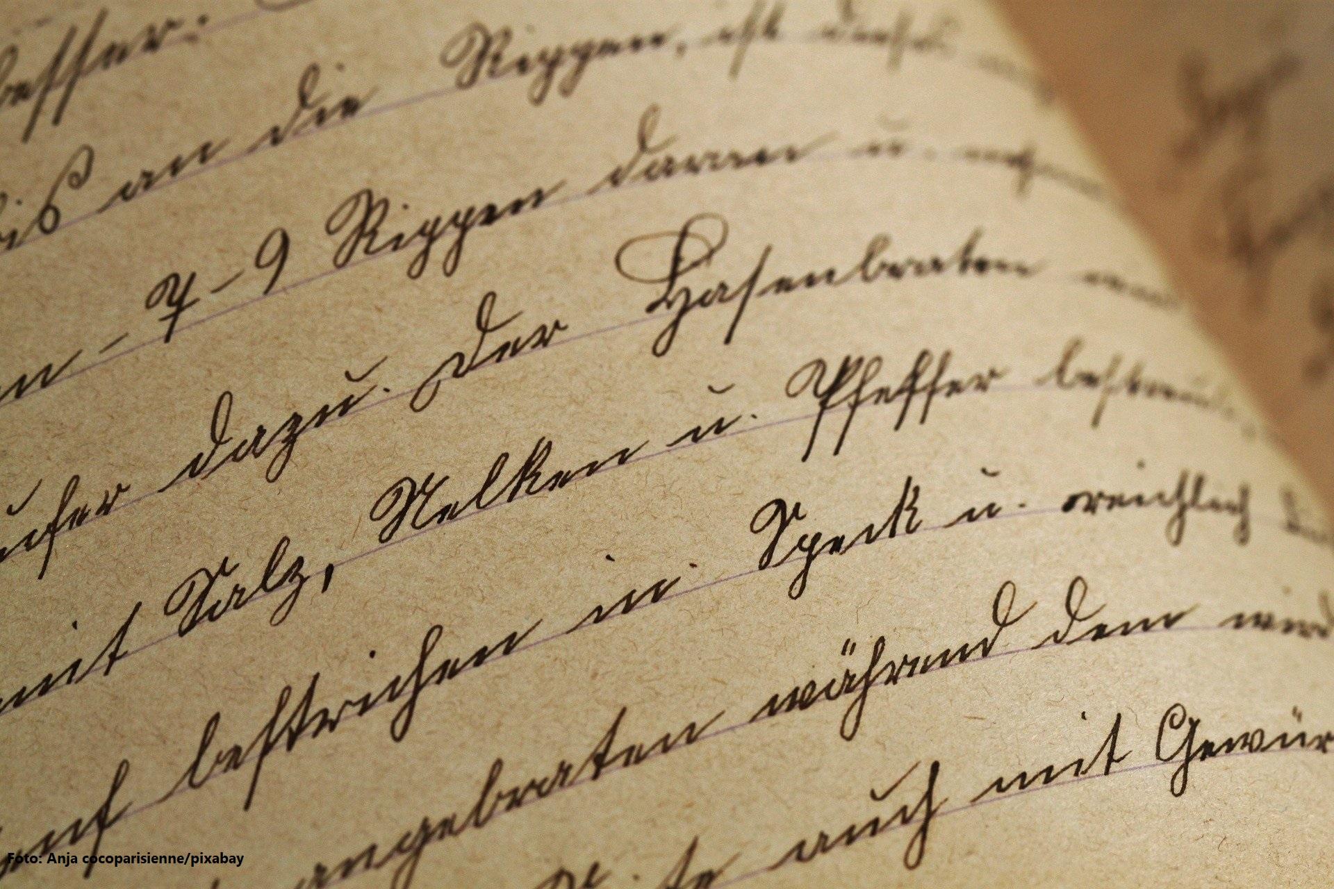 alte Sütterlin-Handschrift
