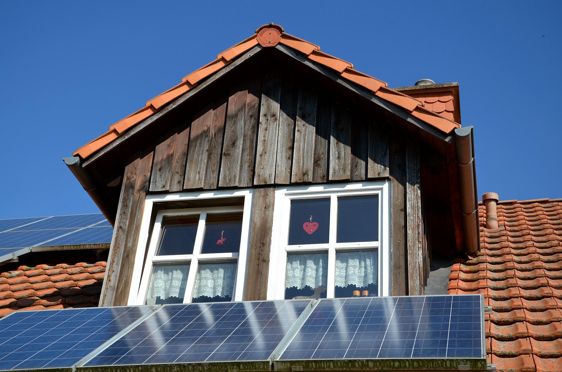 Photovoltaikanlage auf einem Hausdach